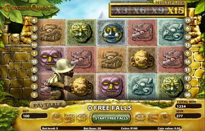 Gonzos Quest Screenshot - 15x Multiplier