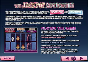 The Pink Panther Slot Progressive Jackpot
