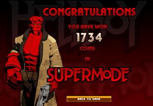 Hellboy Slot Supermode Winnings Screenshot